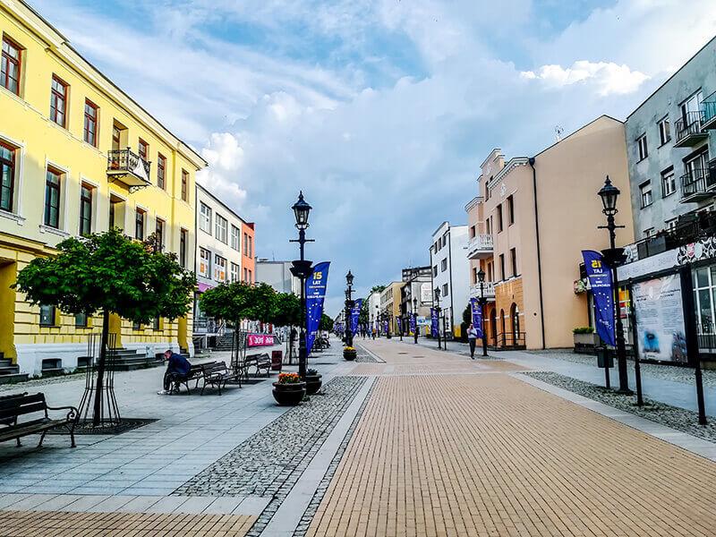 Ulica Warszawska w Ciechanowie